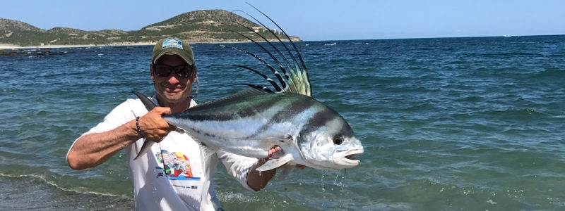 Rooster fly fishing mexico shore